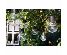 Luxform Guirlande lumineuse sur batterie 10 LED Menorca Transparent