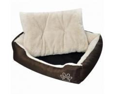 vidaXL Panier chaud pour chien avec coussin rembourré S
