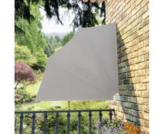 vidaXL Auvent latéral pliable de balcon Crème 140x140 cm