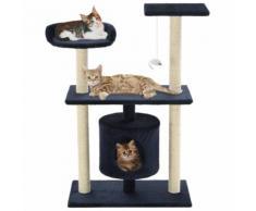 vidaXL Arbre à chat avec griffoirs en sisal 95 cm Bleu foncé