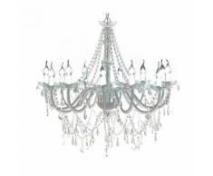vidaXL Lustre vénitien baroque 12 feux 1600 cristaux