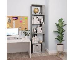 vidaXL Bibliothèque/Séparateur de pièce Gris cement 45x24x159 cm