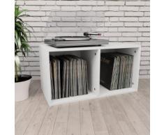 vidaXL Boîte de rangement de vinyles Blanc 71x34x36 cm Aggloméré
