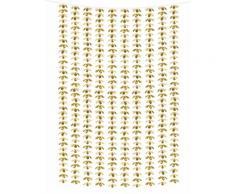 Rideau de fleurs aluminium doré 100 x 210 cm