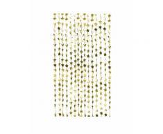 Rideau à frange étoiles dorées métallisées 120 x 200 cm