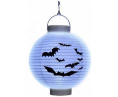 Lanterne à led chauve-souris papier Halloween - Blanc