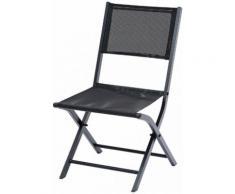 Chaises de jardin Modulo noir textilène noir (X2)