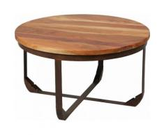 Table basse ronde acier Ø78cm