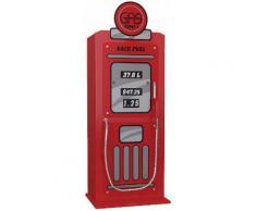 Armoire enfant pompe essence rouge 1 porte 4 étagères