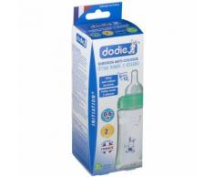 dodie® Initiation+ Biberon Anti-colique 'Lapin' 270 ml vert tétine débit 2 ml Bouteilles