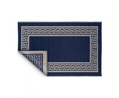 Tapis intérieur extérieur athens bleu marine et crème 270 x 180 cm