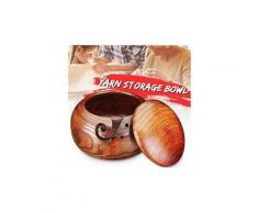 Porte-bol en fil de bois écheveaux boîte à tricoter en crochet avec couvercle chaingzi 117