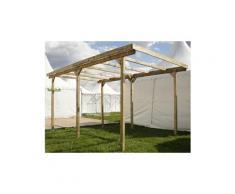 Garage en bois avec toit PVC CARPORT IMPERIA