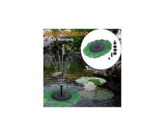 2pcs fontaines solaires de fleur de soleil d'imitation pour l'étang de piscine de jardin vert