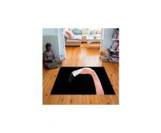 Tapis carré velours antidérapant imprimé animaux mr. Flamingo - 135 x 135 cm