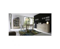 Salle à manger complète couleur chêne clair contemporaine yudy 2