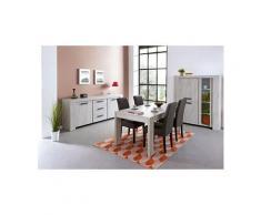 Salle à manger complète couleur chêne gris contemporaine suzon 2