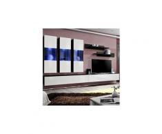 """Meuble tv mural design """"fly ii"""" 320cm blanc & noir"""
