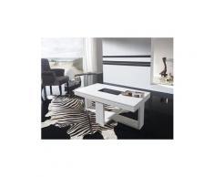 Table basse relevable blanc laqué design cosi