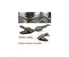 Crocodil flottant et leurre d'eau étang de jardin art déco pour le contrôle des oies nouveau multicolore