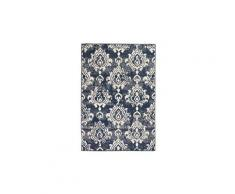 Tapis moderne design de cachemire 160 x 230 cm beige / bleu