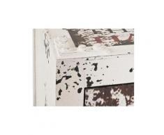 Chiffonnier en bois 4 tiroirs avec imprimé texte