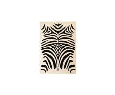 Tapis moderne design de zèbre 80 x 150 cm beige / noir