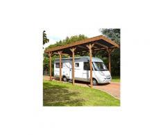 Carport autoportant en bois traité autoclave pour camping car 4x8m