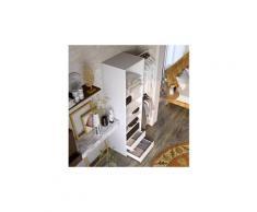 Icaverne dressing - kit amenagement de placard combit kit dressing 1 colonne 2 penderies et 2 tiroir - blanc - l 117 x p 48 x h 200