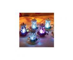 12 pcs halloween bougie avec led thé léger bougies pour partie décoration d'halloween ampoule led