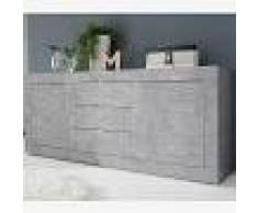 Kasalinea Enfilade 210 cm design gris effet béton ariel 4