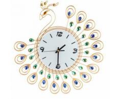 Vintage Style Peacock Antique Horloge Murale Pour La Maison Cuisine Bureau Gd Or PL161 - Décoration murale