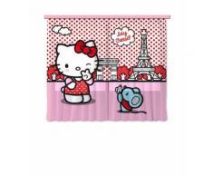 AG Design fCC XL 6311/rideau Voilage pour Chambre d'enfant Motif Hello Kitty - Objet à poser