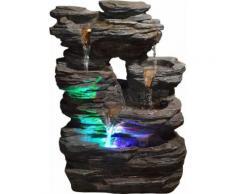 Zen Light - Fontaine d'intérieur Pietra éclairages LEDs - Relaxation et massage