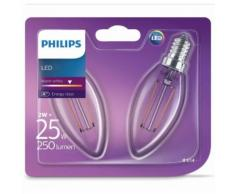 Philips Ampoule bougie LED 2 pcs Classique 2 W 250 Lumens 929001238371 - Lampes