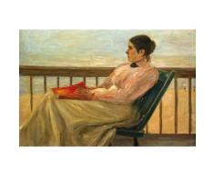 Max Liebermann Papier Peint Photo/Poster Autocollant - Martha Liebermann, La Femme De l'Artiste À La Plage, 1895 (120x180 cm) - Décoration murale
