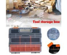 Outil Carry Case de rangement en plastique Spanner Vis matériel Pièces Organizer Kit Box Kiliaadk258 - Boite de rangement