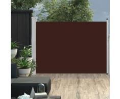Auvent latéral rétractable de patio 100x500 cm Marron - Matériel de construction toiture