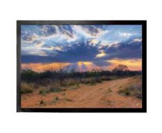 Couchers De Soleil Paillasson Essuie-Pieds - Rayons De Soleil À Travers Des Nuages, Parc National Waterberg, Namibia (70x50 cm) - Tapis et paillasson