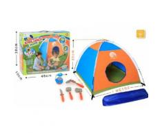 Tente enfant à monter 1 mètre + accessoires et lampe - Accessoire de jeu de construction
