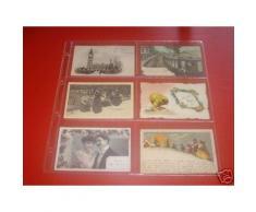 10 feuilles transparentes pour cartes postales anciennes / 6 cases horizontales (pour classeur format 33cmsx33cms) - Autres Classement et Archivage