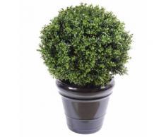 Plante artificielle haute gamme Spécial extérieur / Buis boule artificiel - Dim : H.72 x D.50 cm - Plantes artificielles