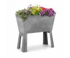 Blumfeldt Mammutgrow Flex Carré Potager surélevé pour culture dŽherbes et fleurs - protection anti UV et gel - gris - Jardinières et bacs