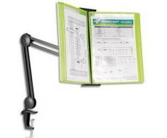 Bras double articulation 360D noir pour pupitre gamme Black Line - Dimensions L40 x H90 x P17,5c - Autres accessoires de bureau