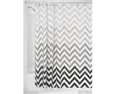 Interdesign 52023eu ombre chevron rideau de douche polyester gris/multicolore 183 x 183 cm - Rideaux enfant