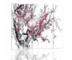 Feeby Paravent écran d'intérieur pivotant 5 panneaux Décoration, Cerisier japonais 180x180 cm - Objet à poser