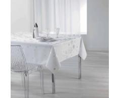 Nappe rectangle 150 x 300 cm polyester imprime argent constellation Blanc - Linge de table