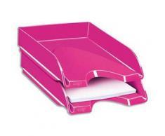 Lot de 3 Corbeilles à courrier Gloss pour format 24 x 32 - Dimensions L25,7 x H6,6 x P34,8 cm, Rose pepsy - Corbeille, bac à courrier, poubelle