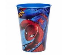 1 Verre Spiderman Pvc 9.5 X 7 Cm Gobelet Jus De Fruit Eau Cuisine - Bols
