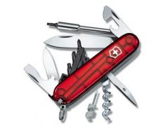 Couteau Suisse de Poche - Victorinox Cyber 29 Pieces - 1.7605.T - Rouge Transparent - Couteau